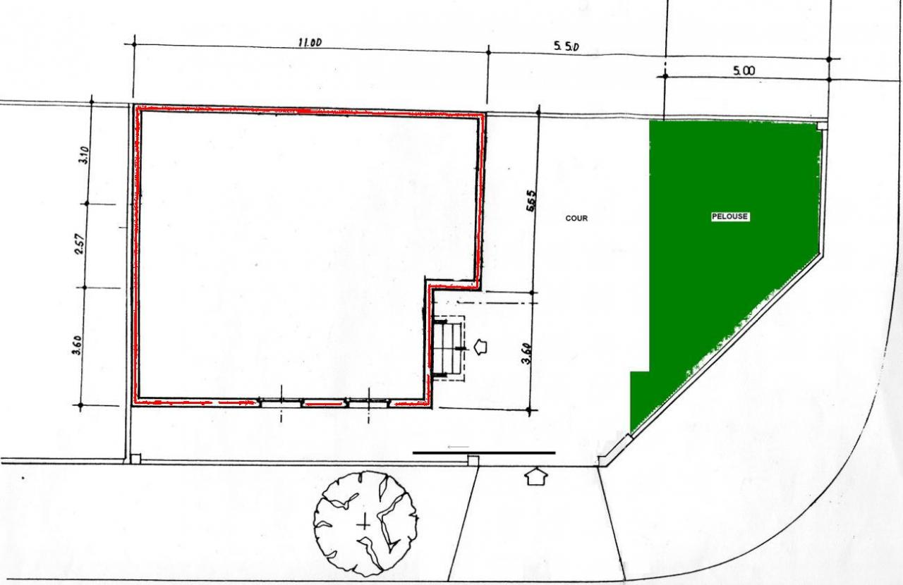 Plan d 39 implantation de la maison sur le terrain for Plan implantation cuisine
